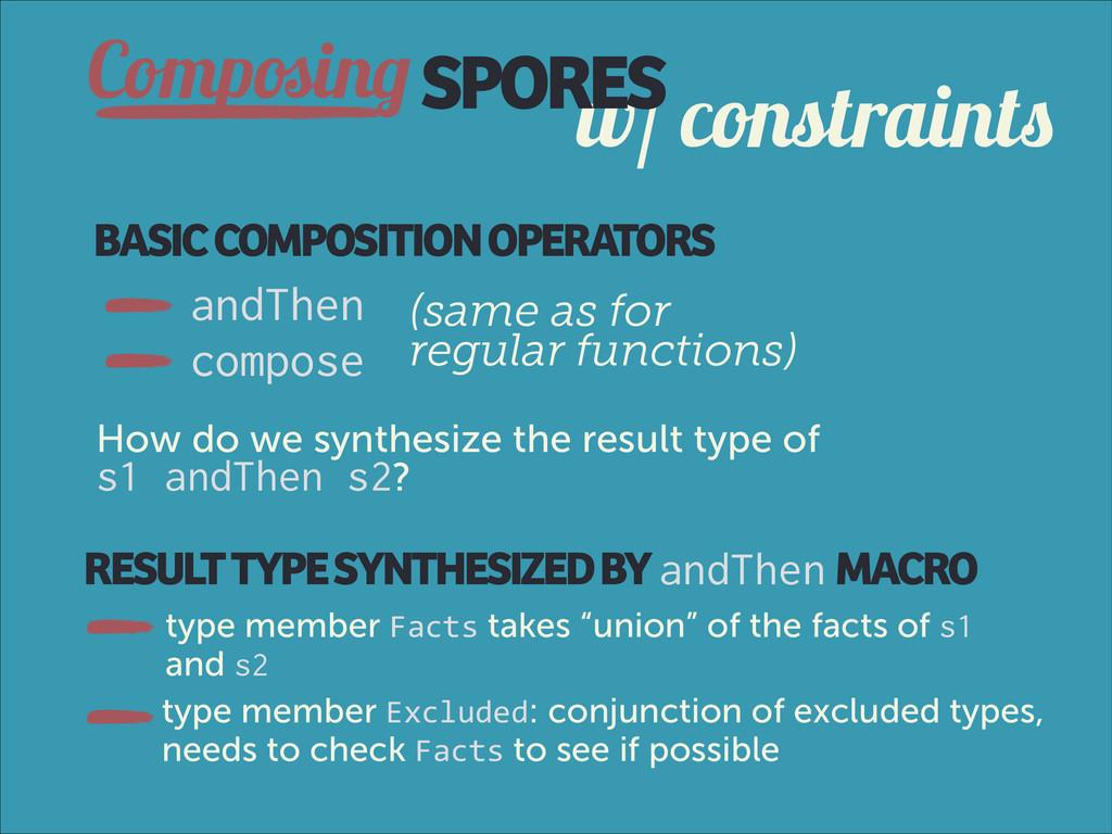 w/ constraints ComposingSPORES BASIC COMPOSITIO...