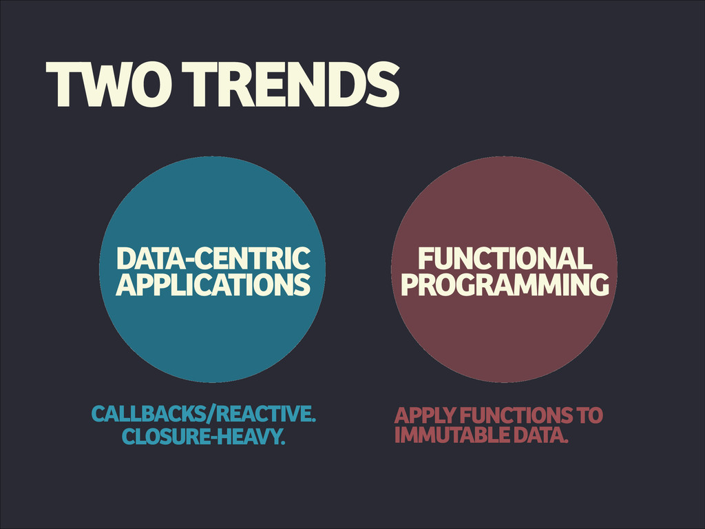 TWO TRENDS DATA-CENTRIC APPLICATIONS FUNCTIONAL...