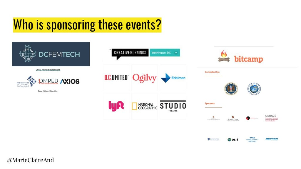 Who is sponsoring these events? @MarieClaireAnd