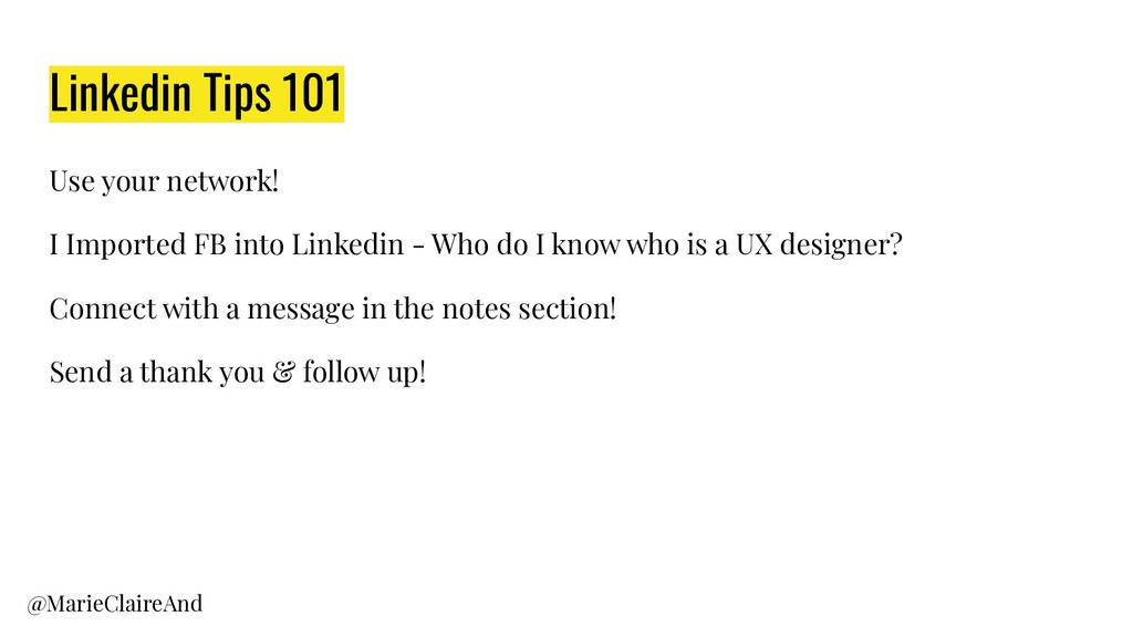Linkedin Tips 101 Use your network! I Imported ...
