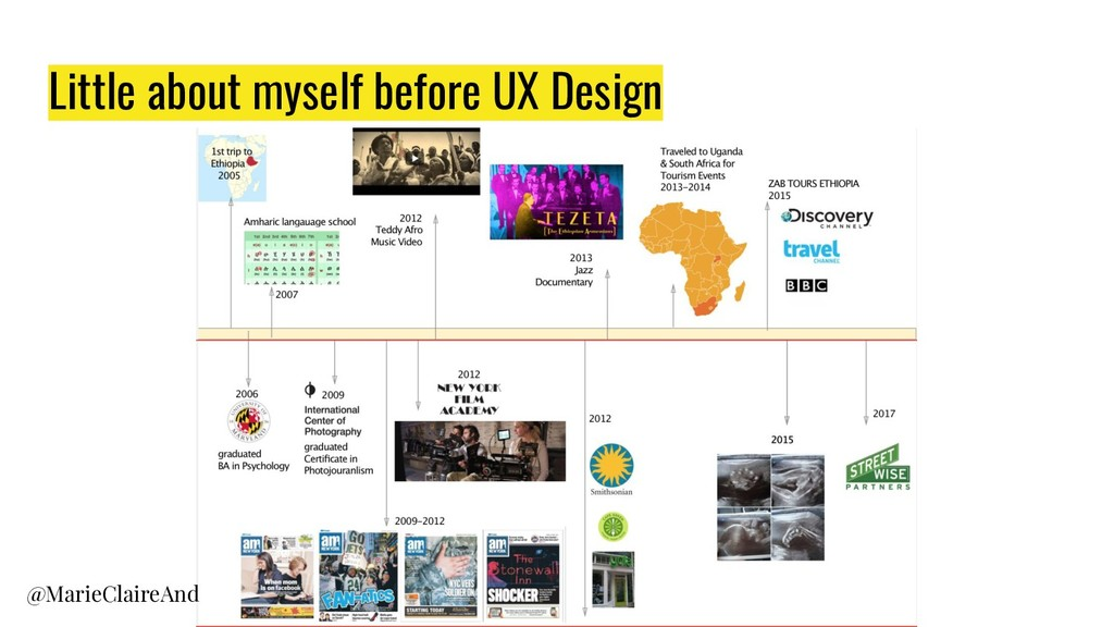 Little about myself before UX Design @MarieClai...