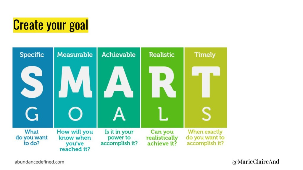Create your goal @MarieClaireAnd
