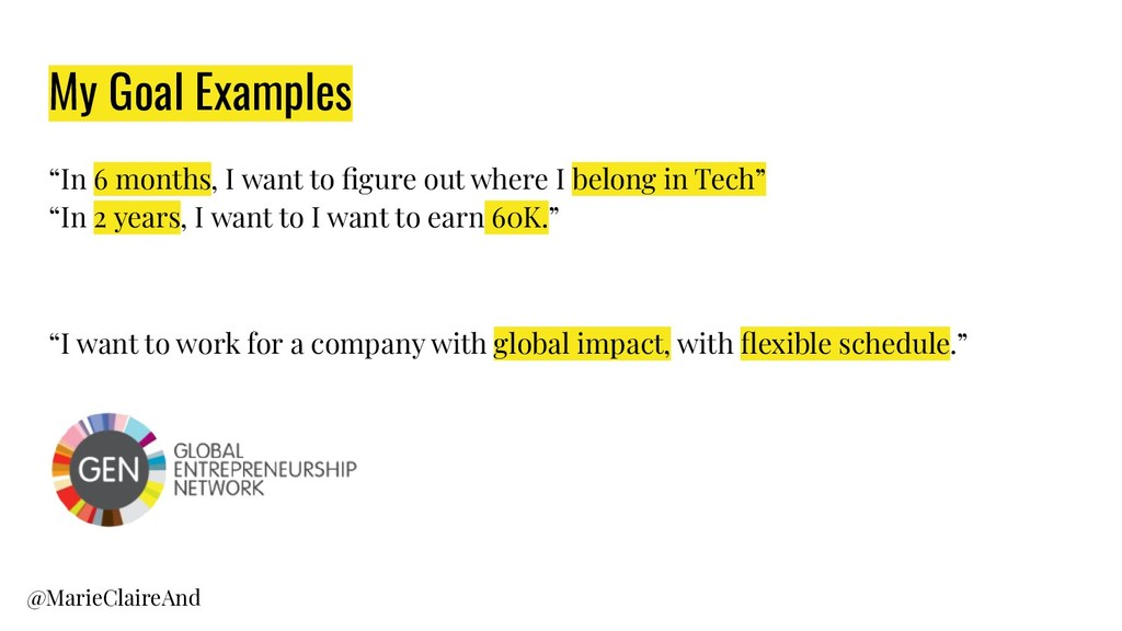 """My Goal Examples """"In 6 months, I want to figure ..."""