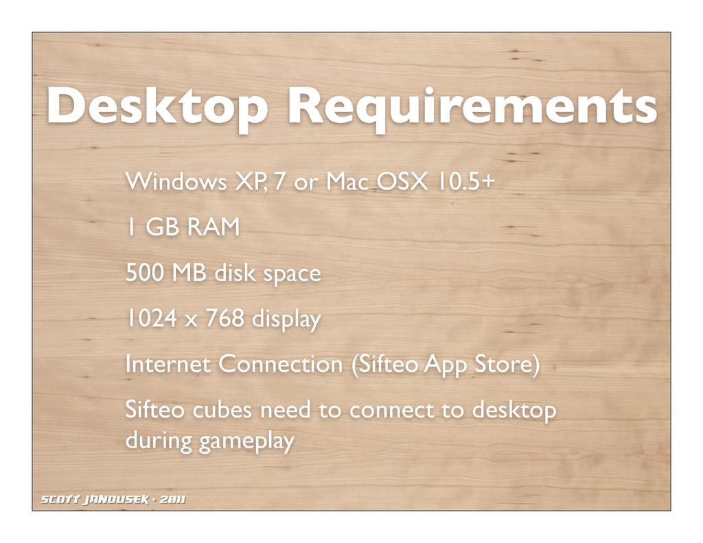 Scott Janousek - 2011 Desktop Requirements Wind...