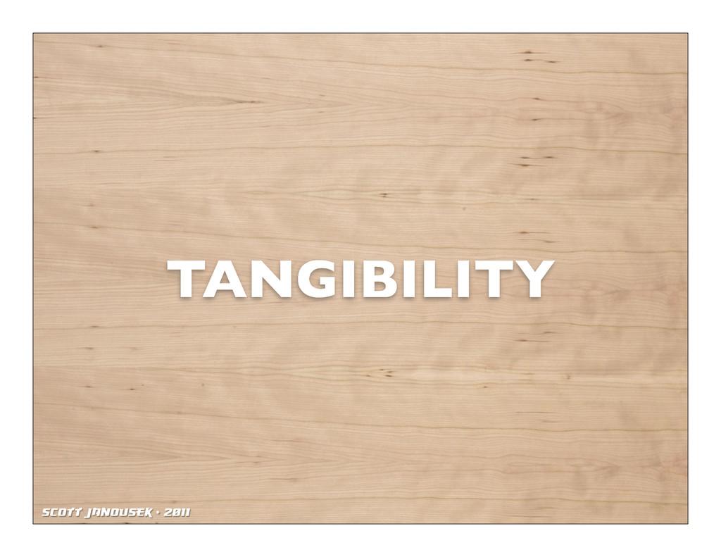 Scott Janousek - 2011 TANGIBILITY