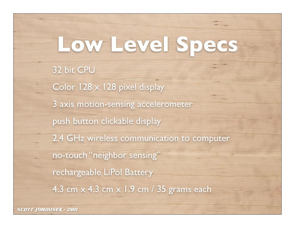 Scott Janousek - 2011 Low Level Specs 32 bit CP...