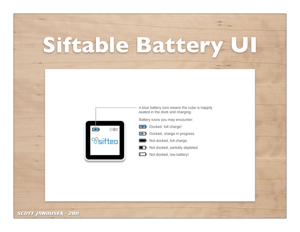 Scott Janousek - 2011 Siftable Battery UI