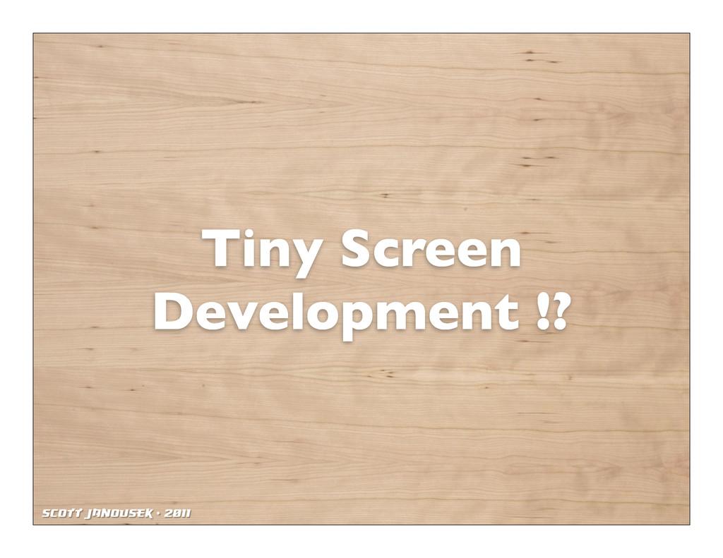 Scott Janousek - 2011 Tiny Screen Development !?