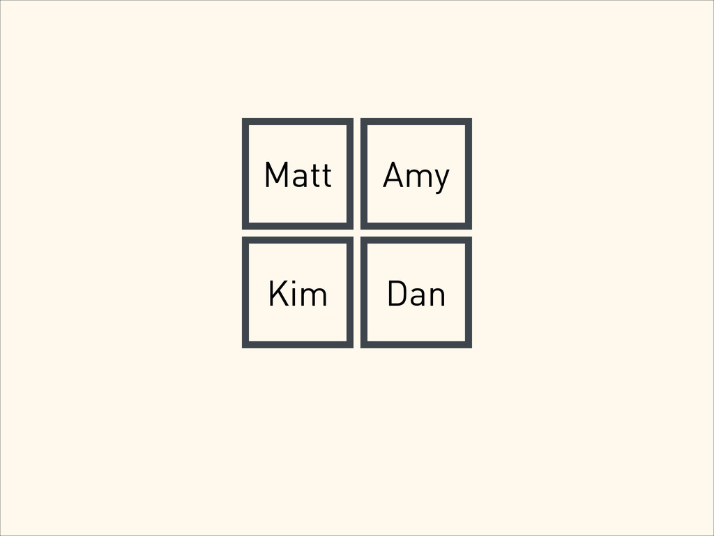 Matt Amy Kim Dan
