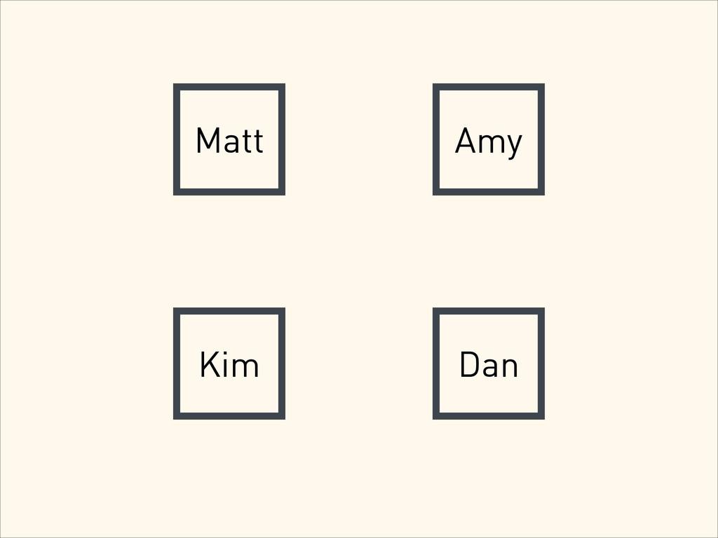 Matt Amy Kim Dan