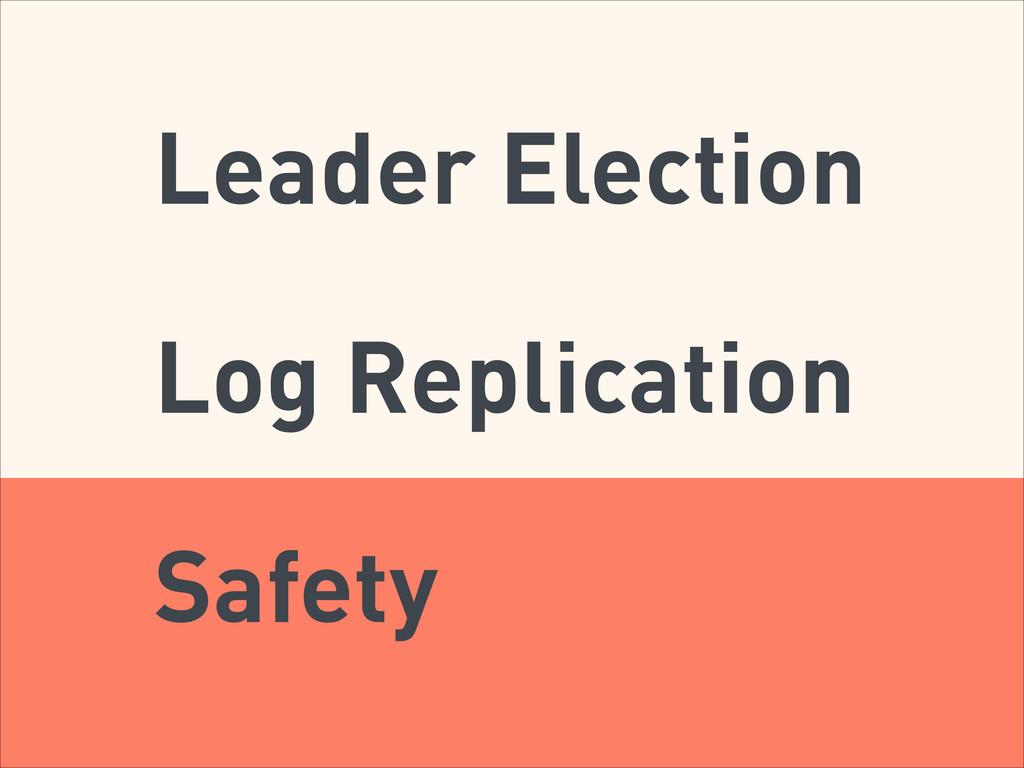 Leader Election Log Replication Safety