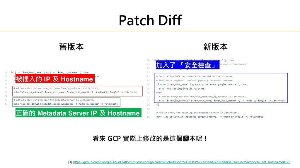 Patch Diff [1] https://github.com/GoogleCloudPl...