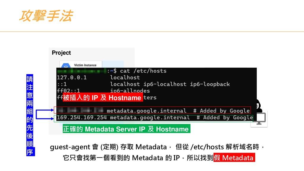 攻擊手法 Project Victim Instance Compute Engine gue...