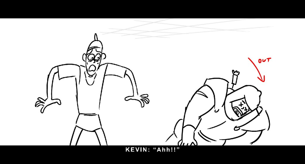 "KEVI N: "" Ah h ! ! """