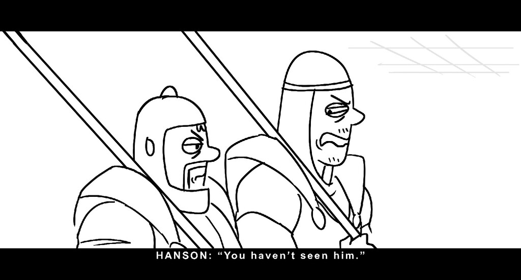 "HANSON: "" Y o u h a v e n ' t s e e n h i m. """