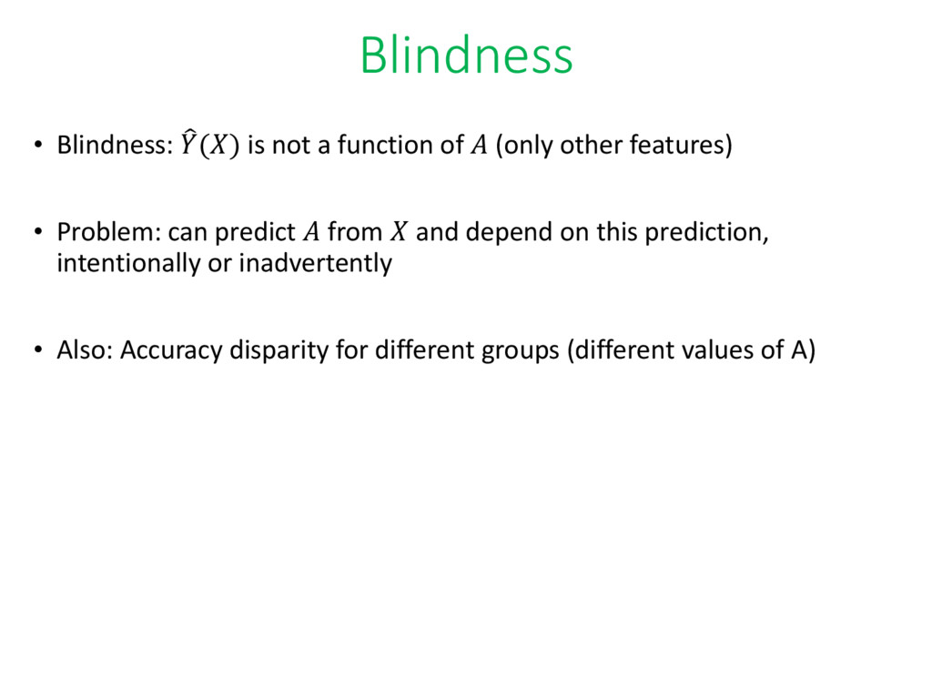 Blindness • Blindness: ෠ () is not a function o...