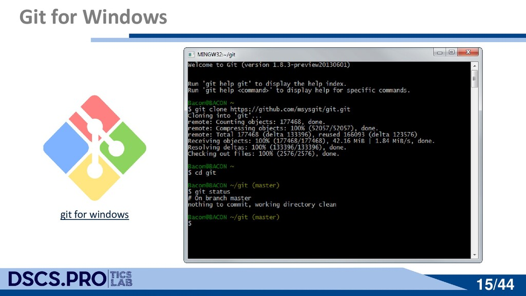 15/44 15/44 Git for Windows git for windows