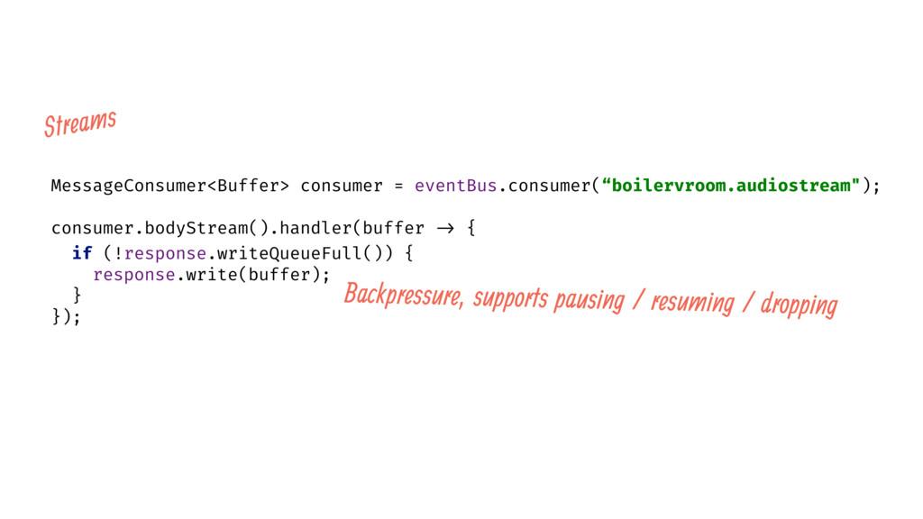 MessageConsumer<Buffer> consumer = eventBus.con...