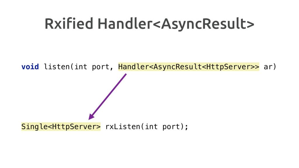 Rxified Handler<AsyncResult> void listen(int por...