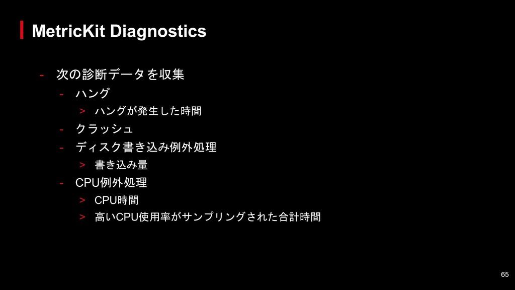 - 次の診断データを収集 - ハング > ハングが発生した時間 - クラッシュ - ディスク書...