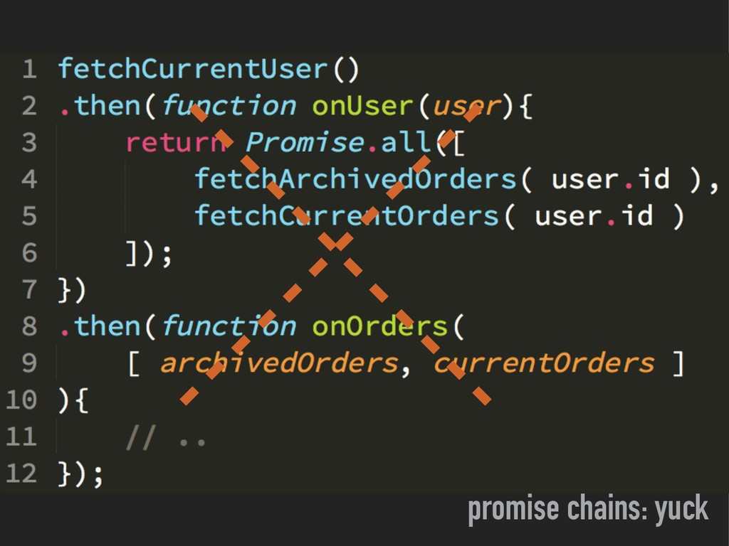 promise chains: yuck
