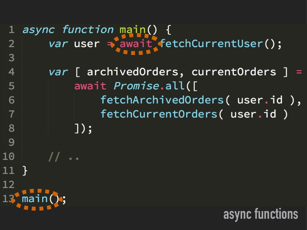 async functions