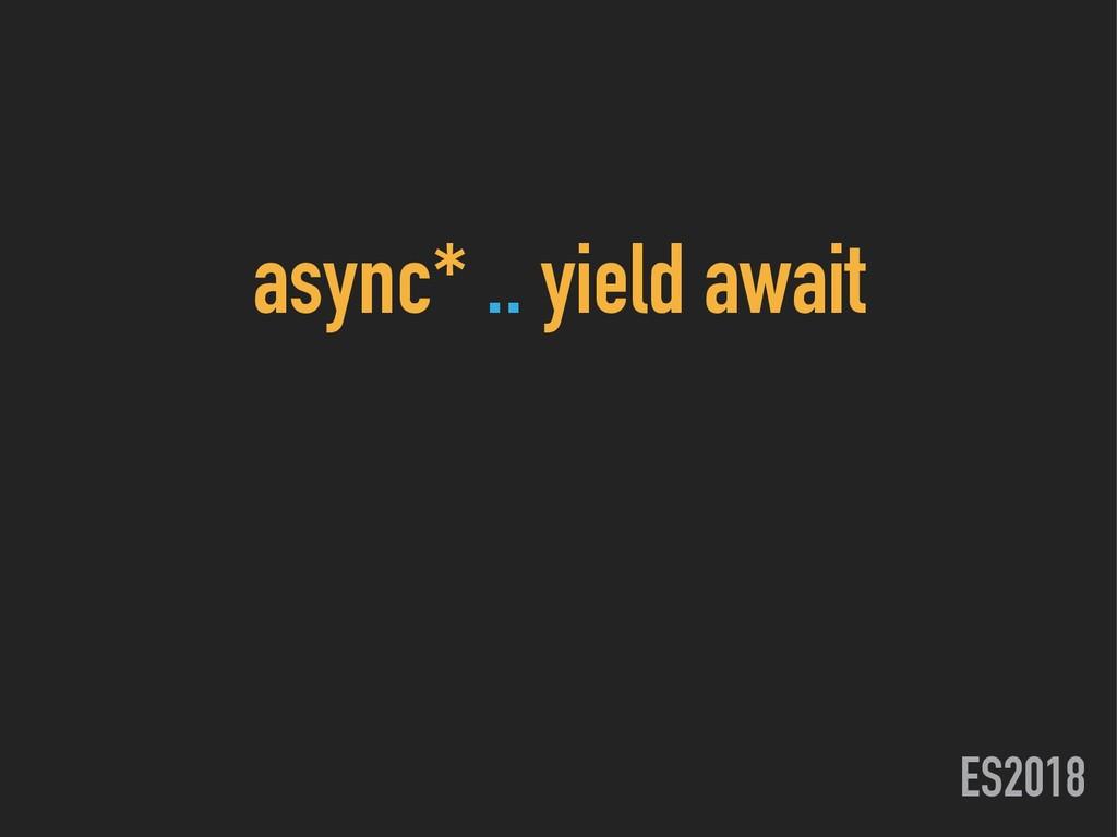 ES2018 async* .. yield await
