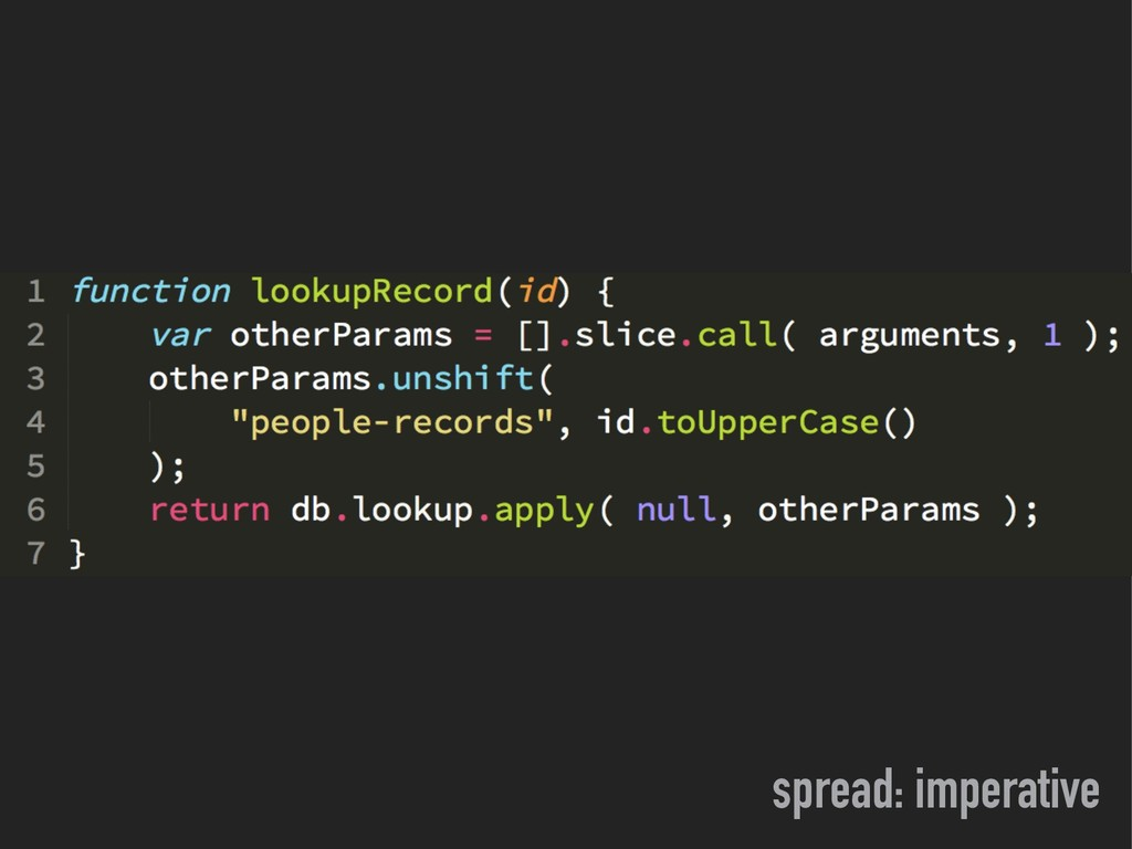 spread: imperative