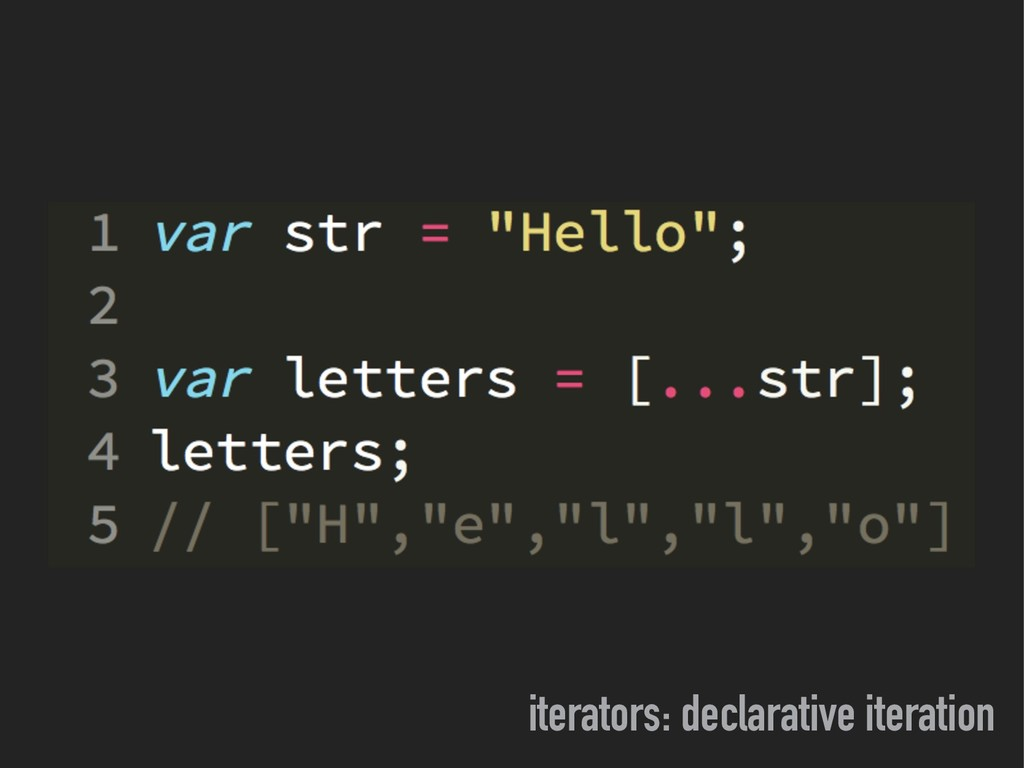 iterators: declarative iteration