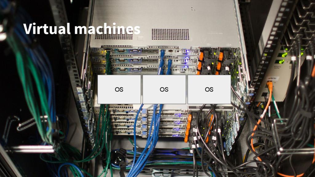 OS OS OS Virtual machines