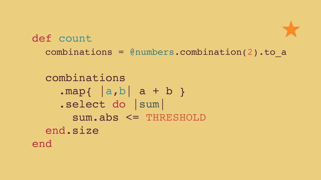 def count! combinations = @numbers.combination(...