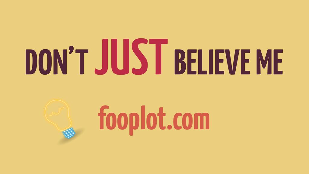 DON'T JUST BELIEVE ME fooplot.com