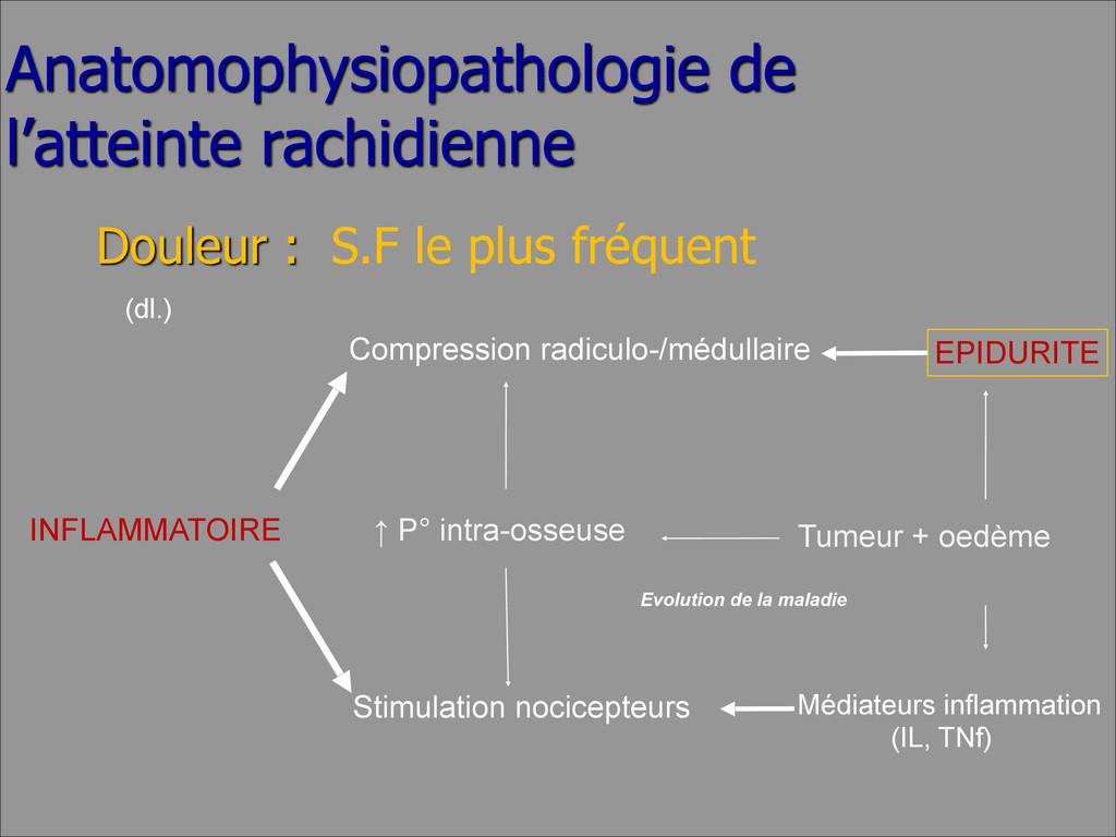 Anatomophysiopathologie de l'atteinte rachidien...
