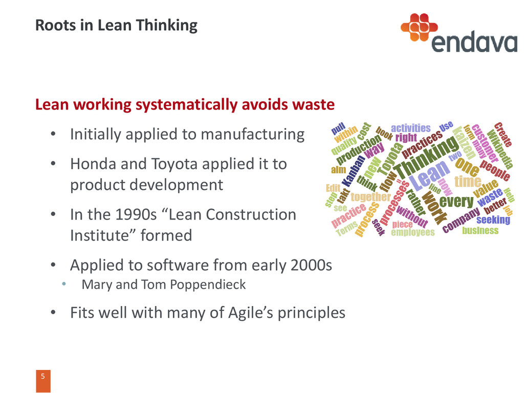 5 5 Roots in Lean Thinking Lean working systema...