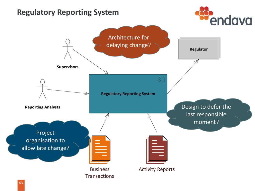 43 43 Regulatory Reporting System Project organ...