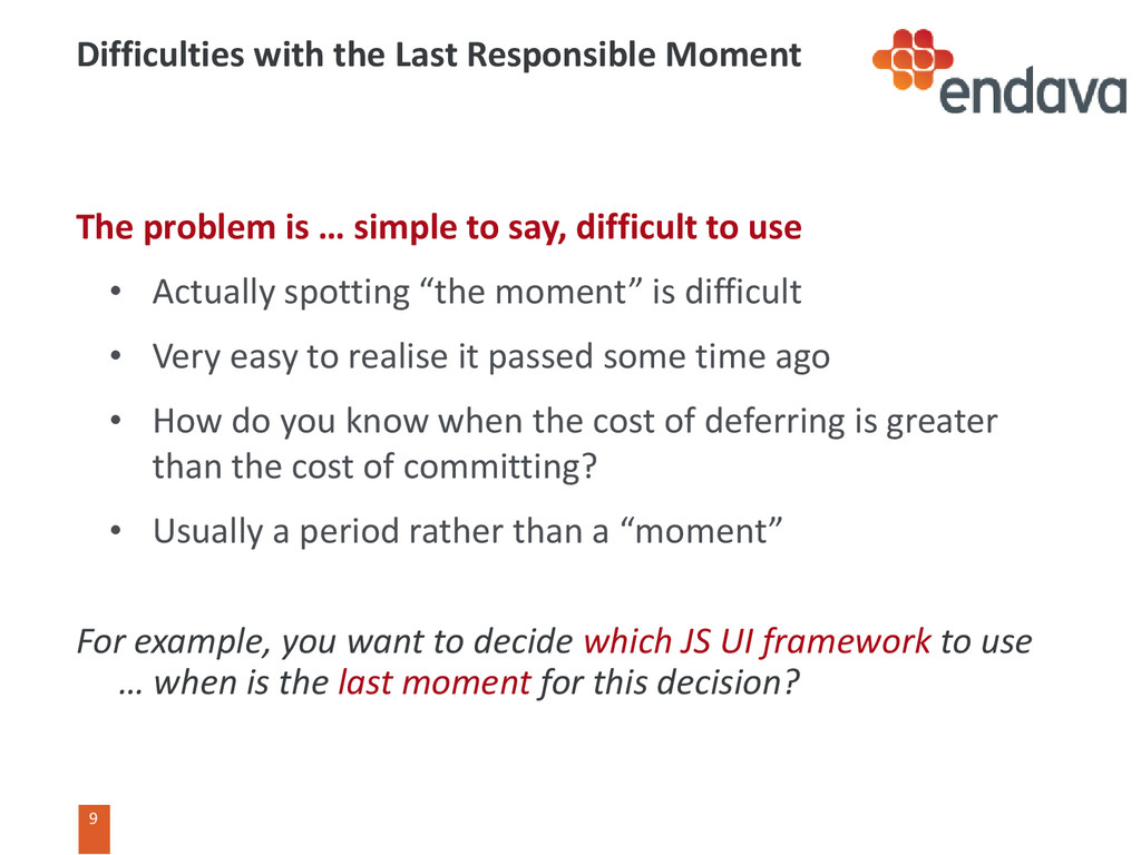 9 9 Difficulties with the Last Responsible Mome...