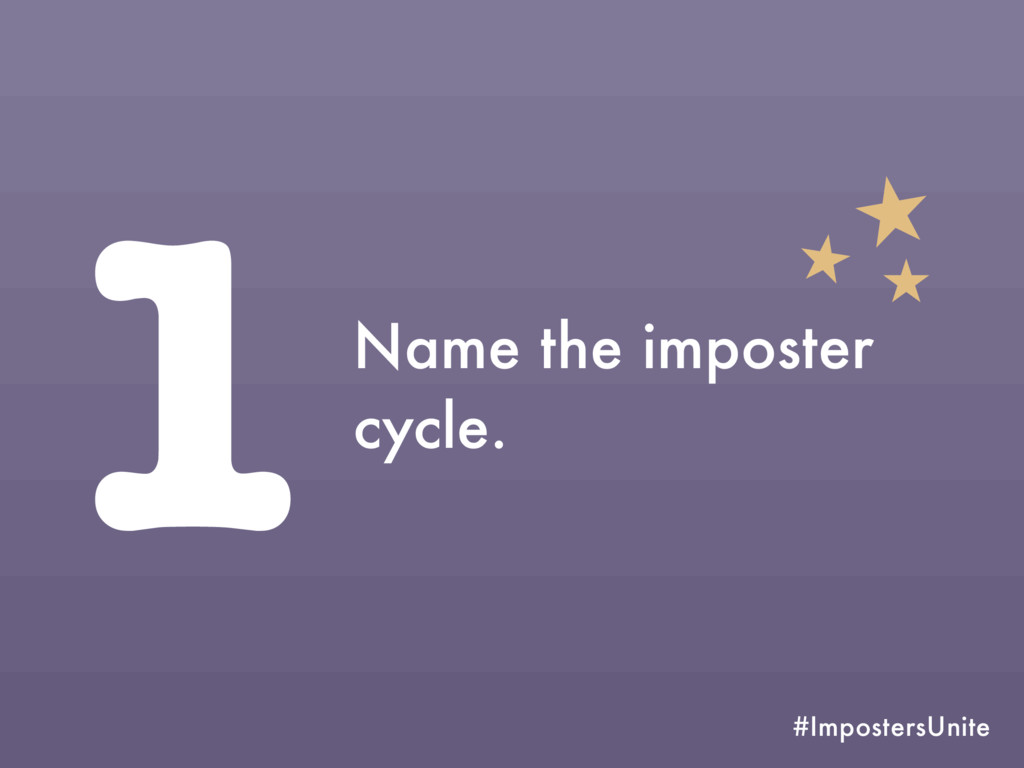 #ImpostersUnite 1Name the imposter cycle.