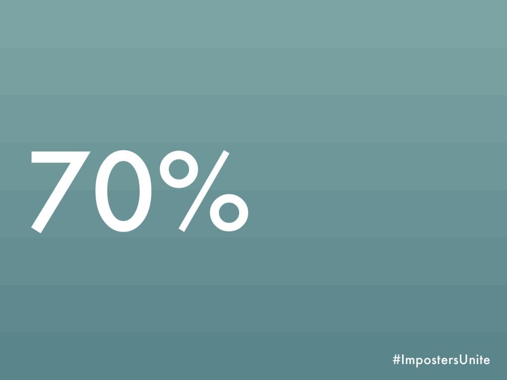 #ImpostersUnite 70%