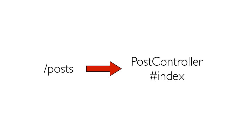 /posts PostController  #index