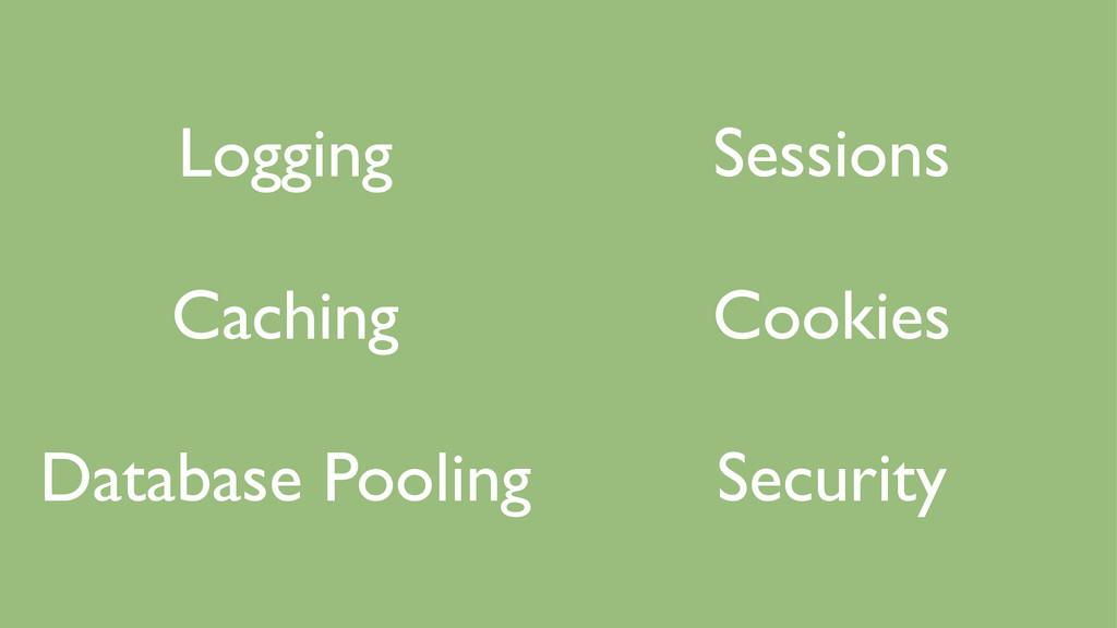 Logging  Caching  Database Pooling  Sessi...