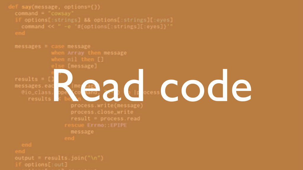 Read code