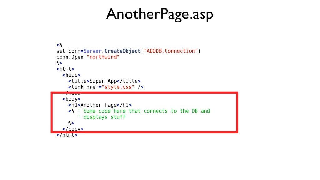 "<% set conn=Server.CreateObject(""ADODB.Connecti..."