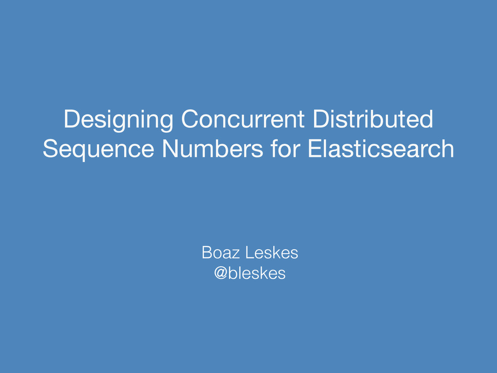 Designing Concurrent Distributed Sequence Numbe...