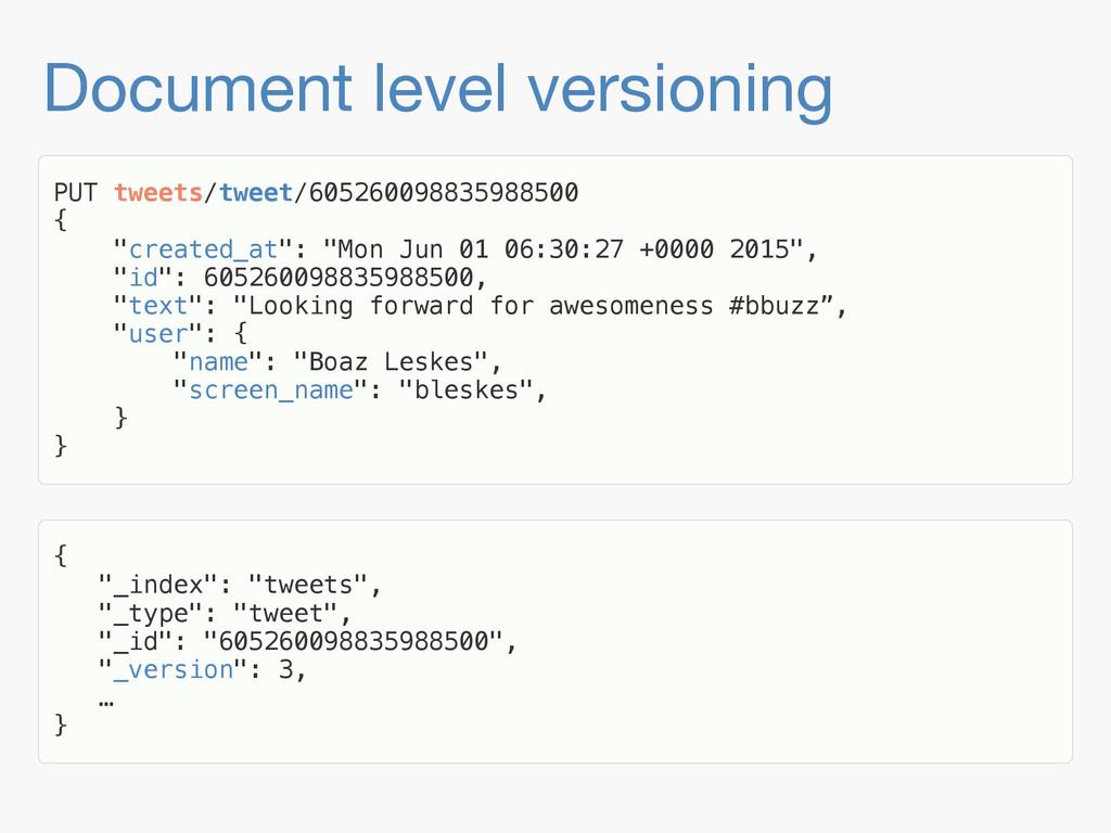 Document level versioning PUT tweets/tweet/6052...
