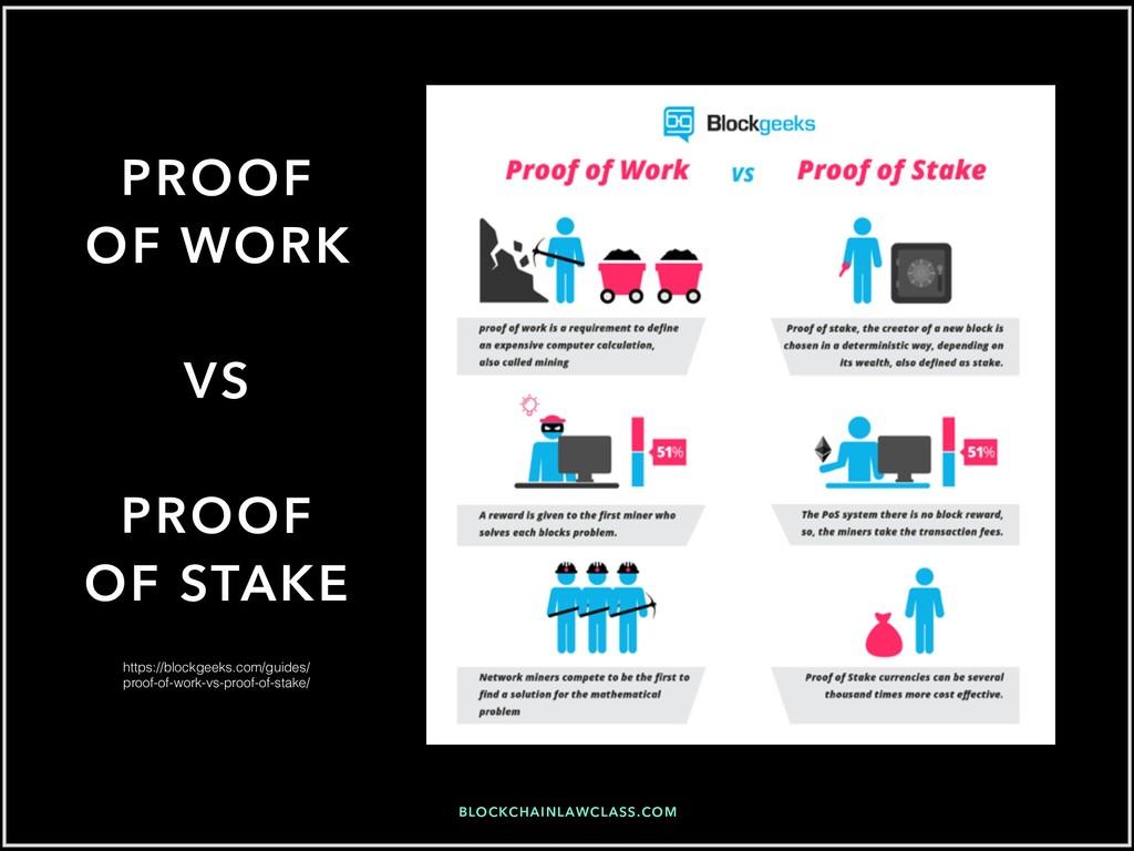 BLOCKCHAINLAWCLASS.COM PROOF OF WORK VS PROOF O...