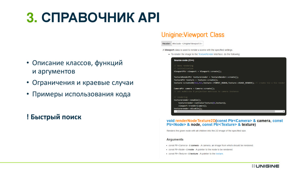 3. СПРАВОЧНИК API • Описание классов, функций и...