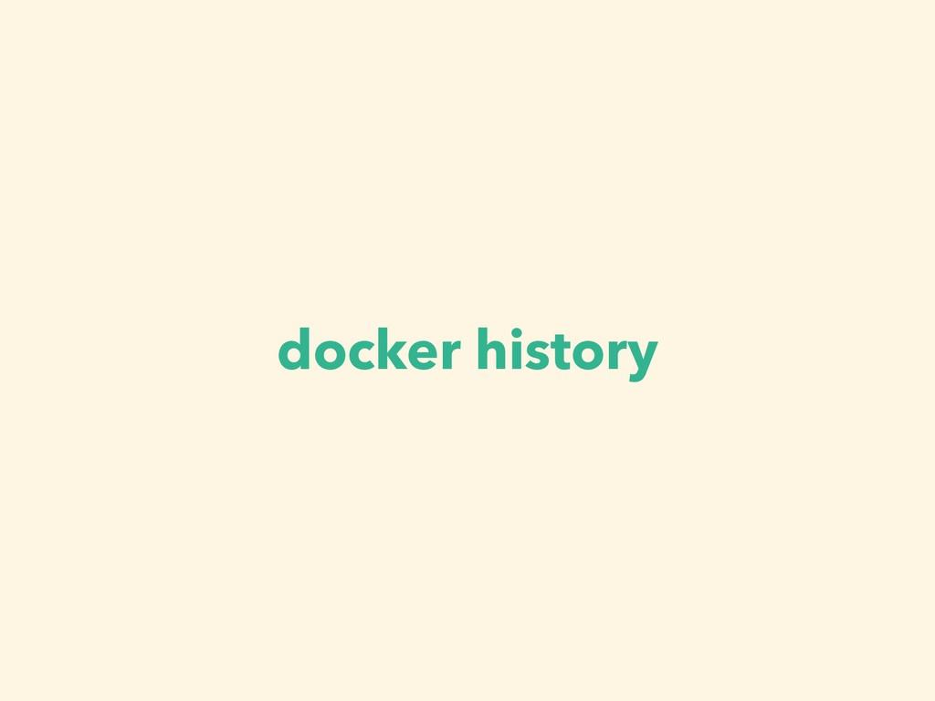 docker history