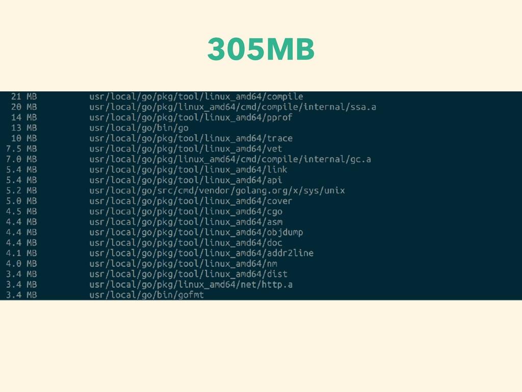 305MB
