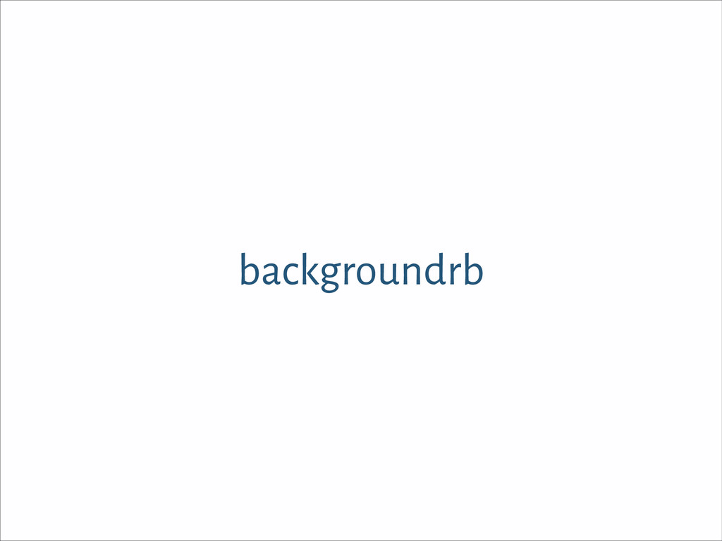 backgroundrb
