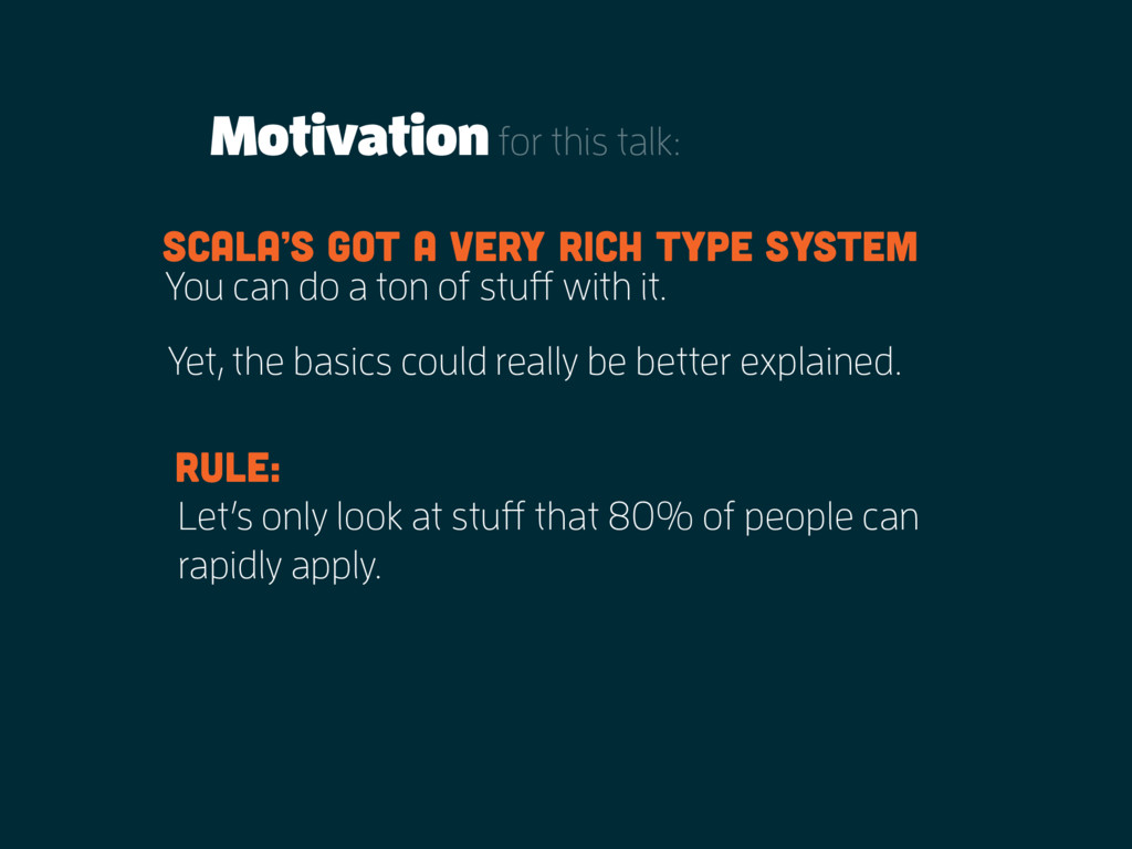Motivationfor this talk: You can do a ton of st...